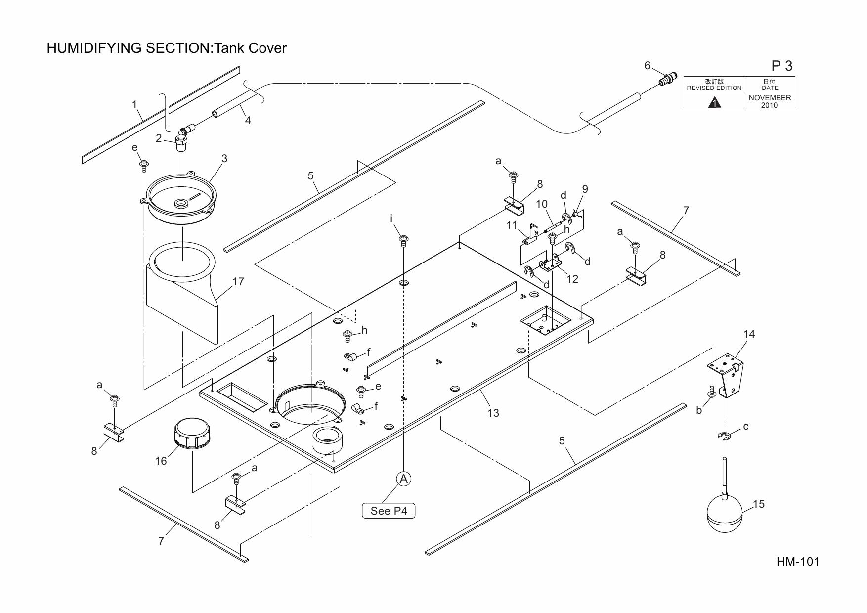 Konica-Minolta Options HM-101 A1TU Parts Manual